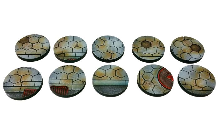 Hexy Sci-Fi 25mm Bases [x10] - Click Image to Close