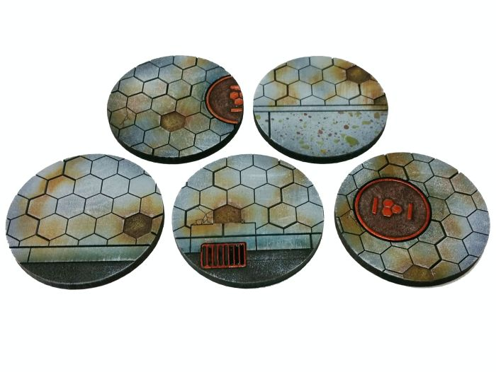Hexy Sci-Fi 40mm Bases [x5] - Click Image to Close