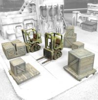 Mini Forklifts with crates